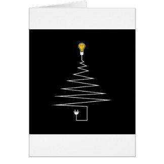 Árvore de Natal elétrica Cartão Comemorativo