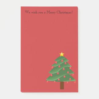 Árvore de Natal na nota de post-it personalizada Bloquinho De Nota