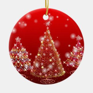 Árvore de Natal Ornamento De Cerâmica Redondo