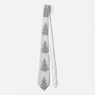 Árvore de Natal preto e branco de luxe do damasco Gravata