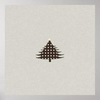 Árvore de Natal rústica Posteres