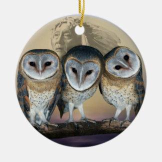 Árvore de Natal sagrado das corujas Ornamento Para Arvores De Natal