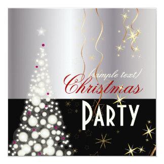 Árvore de Natal Sparkling de PixDezine Convite Quadrado 13.35 X 13.35cm