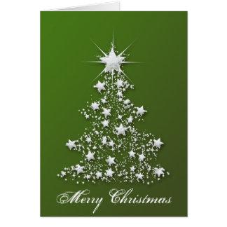 Árvore de Natal Sparkling estrelado Cartão Comemorativo