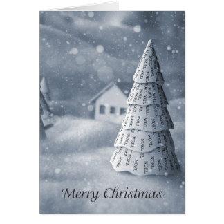 Árvore de Noel do cartão de Natal