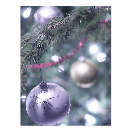 Árvore de prata do feriado cartões postais