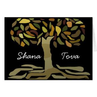 Árvore de Shana Tova do cartão da vida