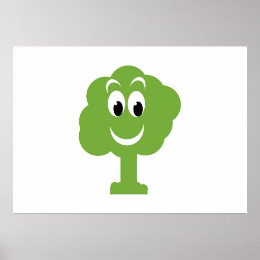 Árvore de sorriso impressão