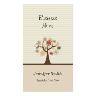 Árvore de vida à moda - tema natural elegante cartão de visita