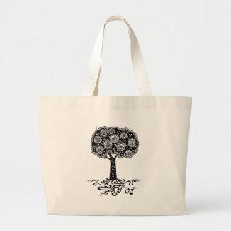 Árvore de vida bolsa tote grande