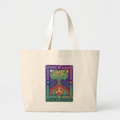 Árvore de vida celta bolsa para compras