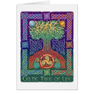 Árvore de vida celta cartao