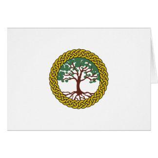 Árvore de vida celta cartão comemorativo
