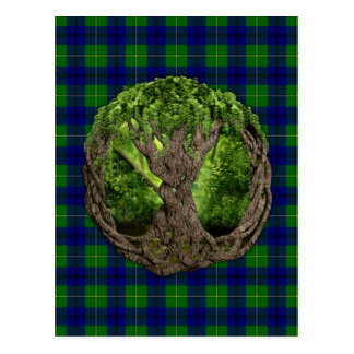 Árvore de vida celta e de Tartan de Johnston do cl Cartões Postais