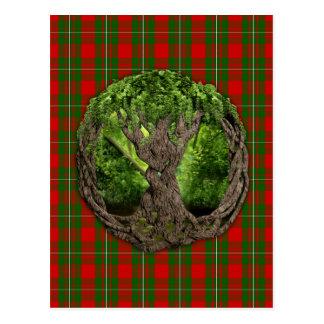 Árvore de vida celta e de Tartan de MacGregor do Cartão Postal