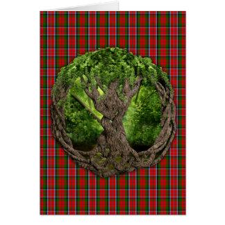 Árvore de vida celta e de Tartan de MacNaughton do Cartão Comemorativo