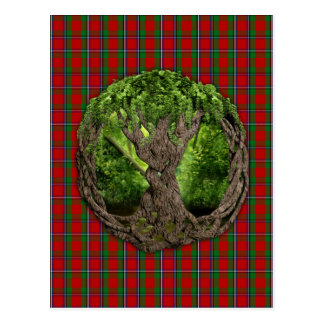 Árvore de vida celta e de Tartan de Sinclair do Cartão Postal