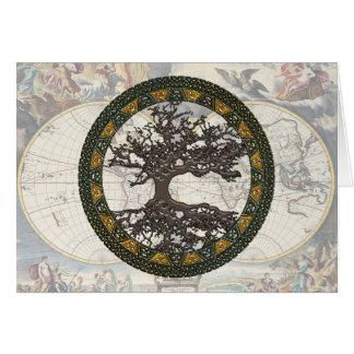 Árvore de vida celta [Yggdrasil] Cartões