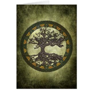 Árvore de vida celta [Yggdrasil] Cartao