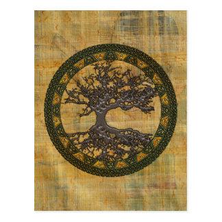 Árvore de vida celta [Yggdrasil] Cartao Postal