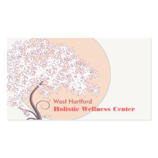 Árvore de vida lunática natural e de saúde cartão de visita
