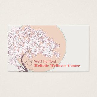 Árvore de vida lunática natural e de saúde cartão de visitas