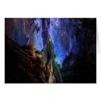 Árvore de vida universal cartão comemorativo