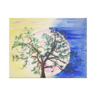 Árvore de Yin Yang do impressão das canvas da vida