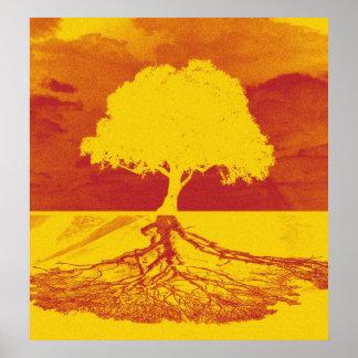 Árvore do abrandamento da vida poster