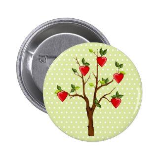 Árvore do amor com corações botons