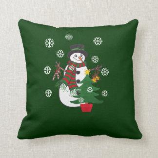 Árvore do boneco de neve & de Natal - travesseiro Almofada
