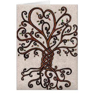 Árvore do cartão da vida