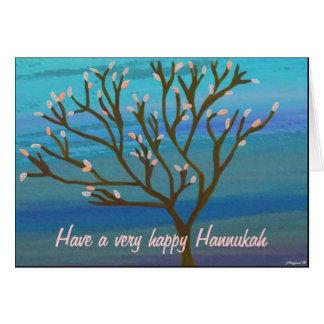 Árvore do cartão de Hannukah da vida