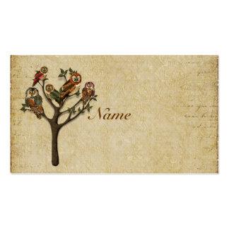 Árvore do cartão de visita/Tag das corujas