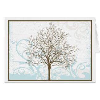 Árvore do cartão vazio de vida