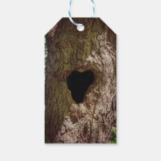 Árvore do coração etiqueta para presente