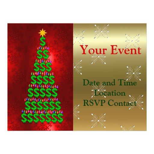 Árvore do dinheiro do Natal Panfletos Personalizados