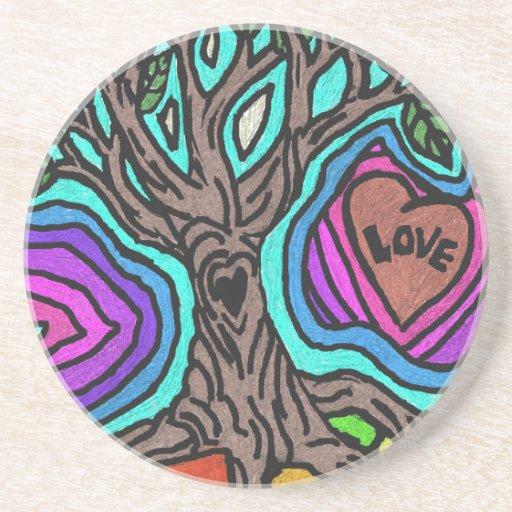 Árvore do doodle do amor porta copo