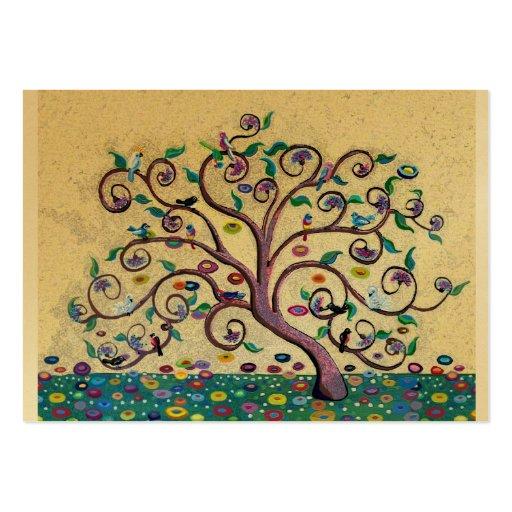 Árvore do estilo de Klimt Modelos Cartao De Visita