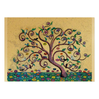 Árvore do estilo de Klimt Cartão De Visita Grande