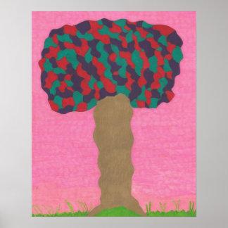 Árvore do impressão do poster da arte