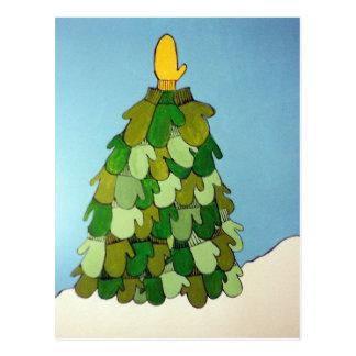 Árvore do mitene do cartão