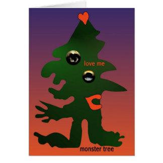 Árvore do monstro por Anjo Lafin Cartão Comemorativo