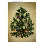 árvore do natal vintage cartão