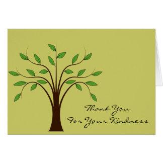 Árvore do obrigado da vida você para seu costume cartão