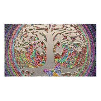 Árvore do ouro com Butterly Cartão De Visita