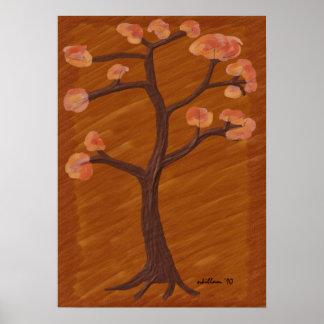 Árvore do outono poster
