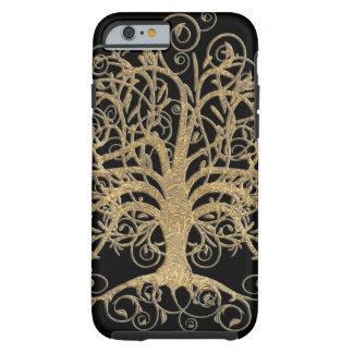 Árvore do redemoinho você escolhe a cor do fundo capa tough para iPhone 6