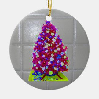 Árvore do rosa do azulejo do banheiro ornamento de cerâmica redondo