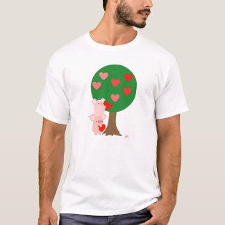 Árvore do t-shirt simples do amor (design na parte camiseta